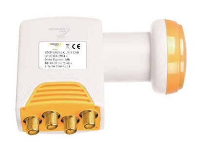LNB Golden Media 204+ QUAD High Gain 0,1 dB