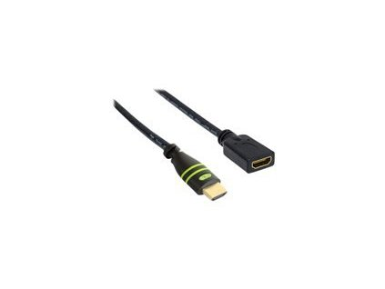 TECHLY 106824 Techly Monitor extension cable HDMI-HDMI M/F 0,2m Ethernet 4K 60Hz černá