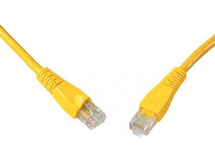 SOLARIX patch kabel CAT6 UTP PVC 7m žlutý snag proof
