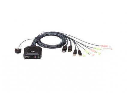 ATEN CS-22DP 2-portový USB DisplayPort KVM přepínač s voličem vzdáleného portu