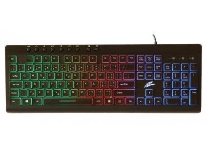 EVOLVEO GK640, herní klávesnice s rgb podsvětlením, USB, 9 multi kláves