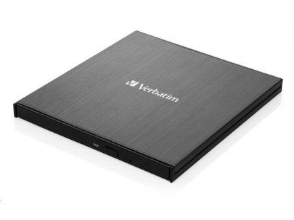VERBATIM externí mechanika Ultra HD 4K Blu-ray External Slimline Writer (USB 3.1, USB-C) + zdarma 25GB médium