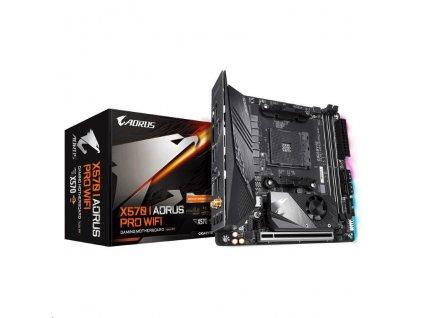 GIGABYTE MB Sc AM4 X570 I AORUS PRO WIFI, AMD X570, 2xDDR4, VGA, Mini-ITX