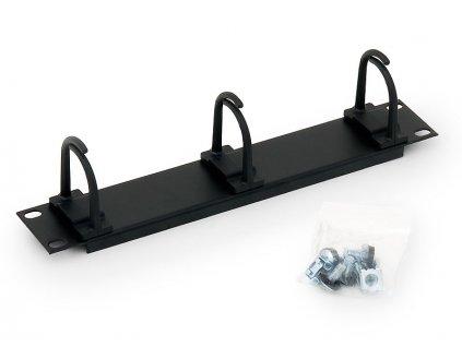 10'' vyvazovací panel černý 1U 3x plast