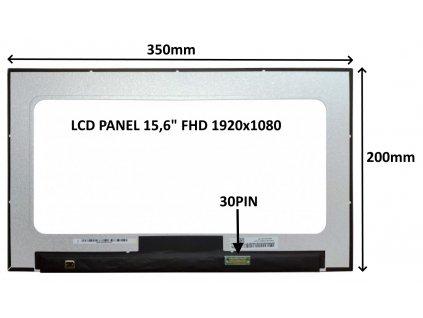 LCD PANEL 15,6'' FHD 1920x1080 30PIN MATNÝ / BEZ ÚCHYTŮ