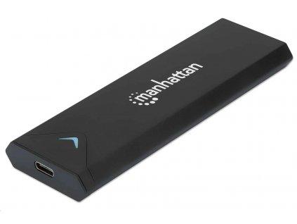 MANHATTAN Paměťový disk Aluminum M.2 NVME SSD Enclosure, Black, Retail Box