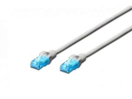 Digitus Ecoline Patch Cable, UTP, CAT 5e, AWG 26/7, šedý 10m, 1ks