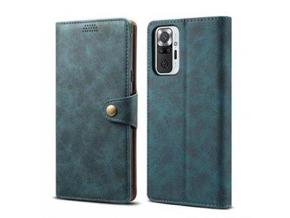 Lenuo Leather pro Xiaomi Redmi Note 10 Pro, modré