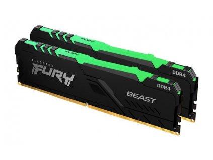 KINGSTON 16GB 3600MHz DDR4 CL17 DIMM (Kit of 2) FURY Beast RGB