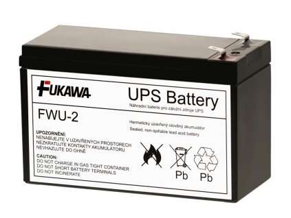 FUKAWA olověná baterie FWU2 do UPS APC/ náhradní baterie za RBC2/ 12V/ 7,2Ah/ životnost 5 let