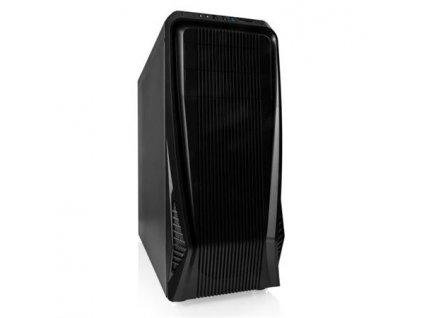 Modecom PC herní skříň MAG C3 DARK MIDI, 1x USB 3.0, 2x USB 2.0, audio HD, čtečka SD/TF karet, černá, bez zdroje