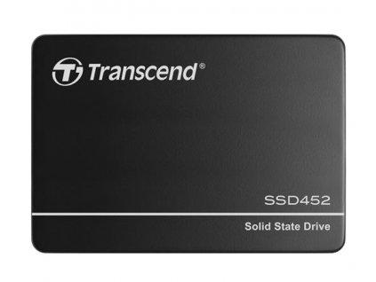 """TRANSCEND SSD452K 256GB Industrial (3K P/E) SSD disk 2.5"""" SATA3, 3D TLC, Aluminium case, 560MB/s R, 520 MB/W, černý"""