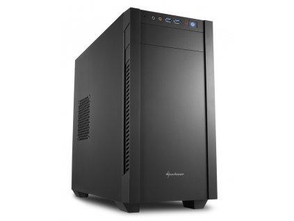 Sharkoon skříň S1000 / Micro-ATX / 2x USB3.0 / 2x3,5mm / 2x120mm fan / černá