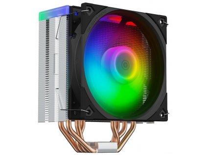 SilentiumPC chladič CPU Fera 5 ARGB / ultratichý/ 120mm fan/ 4 heatpipes / PWM/ ARGB / pro Intel i AMD