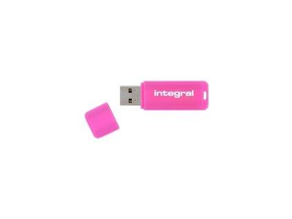 INTEGRAL 8GB USB Drive NEON pink