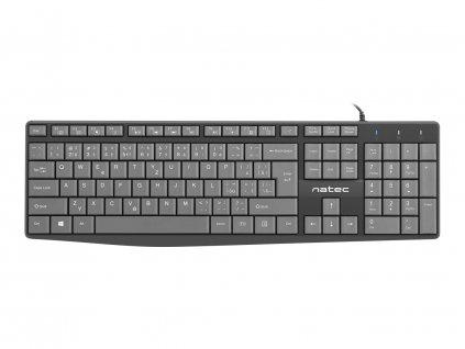 Klávesnice Natec Nautilus, CZ/SK layout, slim, ploché měkké klávesy, 1,8m kabel