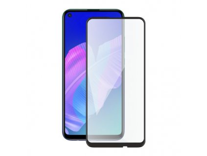 Screenshield HUAWEI P40 Lite E (full COVER black) Tempered Glass Protection