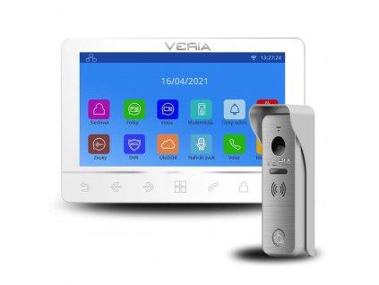 SET Videotelefon VERIA 8276B bílý + vstupní stanice VERIA 831 ze série VERIA 2-WIRE