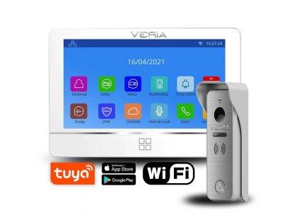 SET Videotelefon VERIA 8277B-W bílý + vstupní stanice VERIA 831 ze série VERIA 2-WIRE