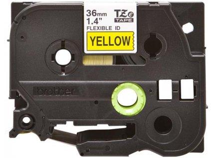 Brother - TZe-FX661, žlutá / černá, 36 mm, s flexibilní páskou