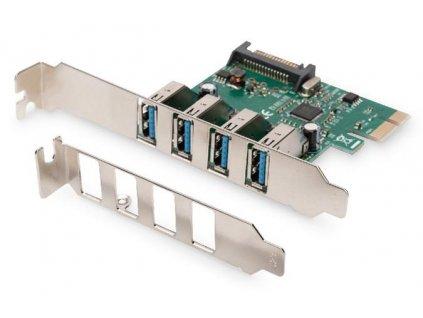 Digitus USB 3.0, 4 Port, PCI Express Add-On karta 4 porty A / F External, VL805 chipset