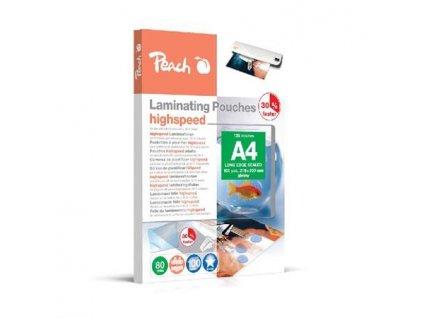 PEACH laminovací folie A4 (303x216mm), 80mic, Highspeed, 100ks