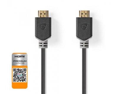 Nedis CVBW34050AT20 - Prémiový Vysokorychlostní HDMI™ Kabel s Ethernetem | HDMI™ Konektor - HDMI™ Konektor | 2 m | Antra