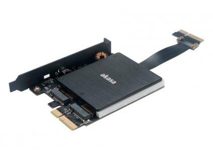 AKASA Duální RGB adaptér M.2 SSD do PCIe x4 / AK-PCCM2P-04 / podporovaná velikost SSD 2230, 2242, 2260 a 2280