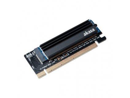 AKASA adaptér pro M.2 do PCIe x16 / AK-PCCM2P-05 / podporuje 2230, 2242, 2260, 2280