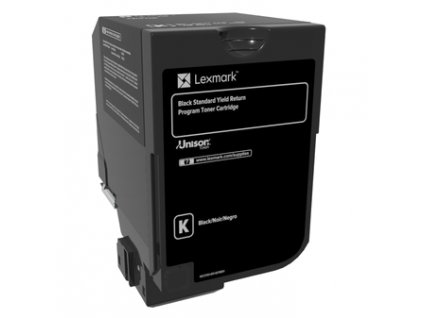 CS720, CS725, CX725 Black Standard Yield Return Programme Toner Cartridge - 7 000 stran