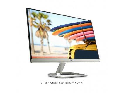 "LCD HP IPS Monitor 24fw LED backlight AG; 24"" matný, 1920x1080, 10M:1, 300cd, 5ms,VGA,HDMI,silver-white"