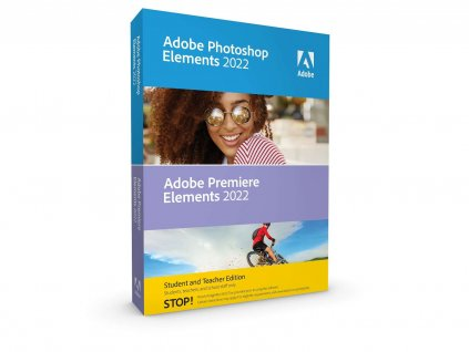 Adobe Photoshop & Adobe Premiere Elements 2022 CZ WIN STUDENT&TEACHER Edition BOX