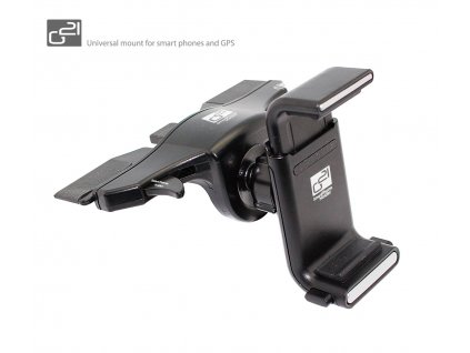 """Držák G21 Smart phones holder CD slot univerzální, pro mobilní telefony do 6"""", černý"""