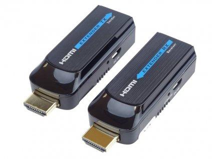 Extender HDMI FULL HD na 50m přes jeden kabel Cat6