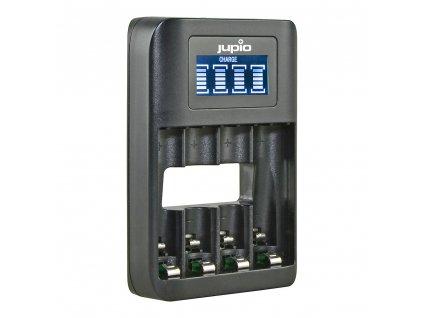 Nabíječka Jupio USB 4-slots Battery Fast Charger LCD pro 1 až 4ks AA/ AAA baterií