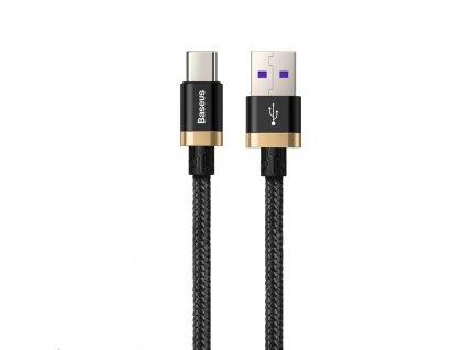 Baseus nabíjecí / datový kabel HW Flash Charge USB-C 40W 2m, zlatá-černá
