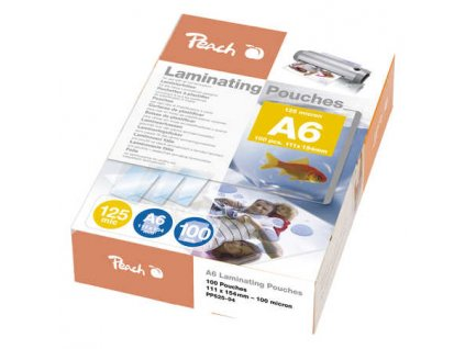 PEACH laminovací folie A6 Laminating Pouch (111x154mm), 125mic, 100ks