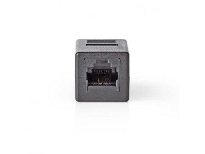 Nedis CCGB89010BK - Síťový Adaptér Cat 6 | RJ45 (8P8C) Zásuvka - RJ45 (8P8C) Zásuvka | Černá barva