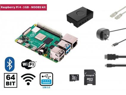 Raspberry Pi 4 Model B 2GB RP4KIT2GB
