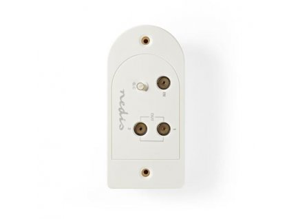Nedis SAMP40125WT - Anténní zesilovač CATV | Zesílení 25 dB | 2 výstupy IEC