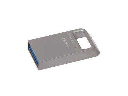 KINGSTON 64GB USB 3.0 DataTraveler Micro 3.1 Type-A metal ultra-compact drive