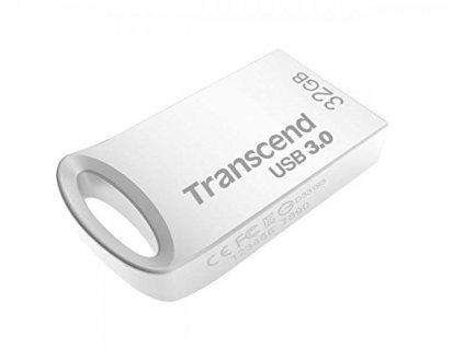 Transcend 32GB JetFlash 710S, USB 3.1 Gen 1 flash disk, malé rozměry, stříbrný kov