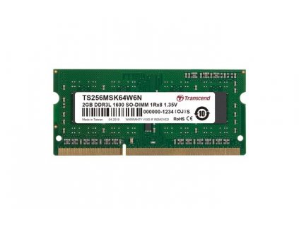Transcend TS256MSK64W6N 2GB DDR3L 1600 SO-DIMM 1Rx8