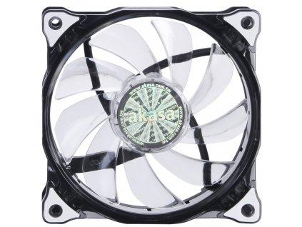 AKASA LED ventilátor Vegas / AK-FN091-WH / 120mm / výška 25mm/ 3pin PWM/ bílý