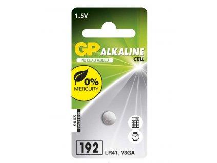 GP alkalická baterie 1,5V LR41/V3GA 1ks blistr