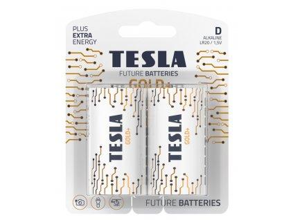 TESLA GOLD+ alkalická baterie D (LR20, velký monočlánek, blister) 2 ks