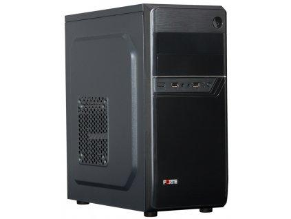 PORTE skříň MidT B26 / Middle tower / bez zdroje / 2x USB 2.0 / černá