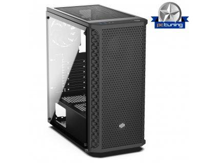 SilentiumPC skříň MidT Signum SG1 TG / 2x USB 3.0 / 2x 120mm fan / perforované čelo / bočnice z tvrzeného skla/ černá