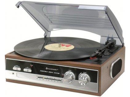 Soundmaster PL186H gramofon s radiem / AM/ FM/FM-ST radio/ retro design