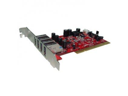 Kouwell UB-124N PCI I/O karta 4x USB3.0 porty Low profille